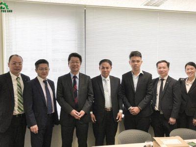 Đại diện Toho-Leo và Hoàng Phú Anh tại buổi đánh giá chất lượng sản phẩm mới